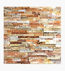abstract contemporary fall colors stone  Photographic Print