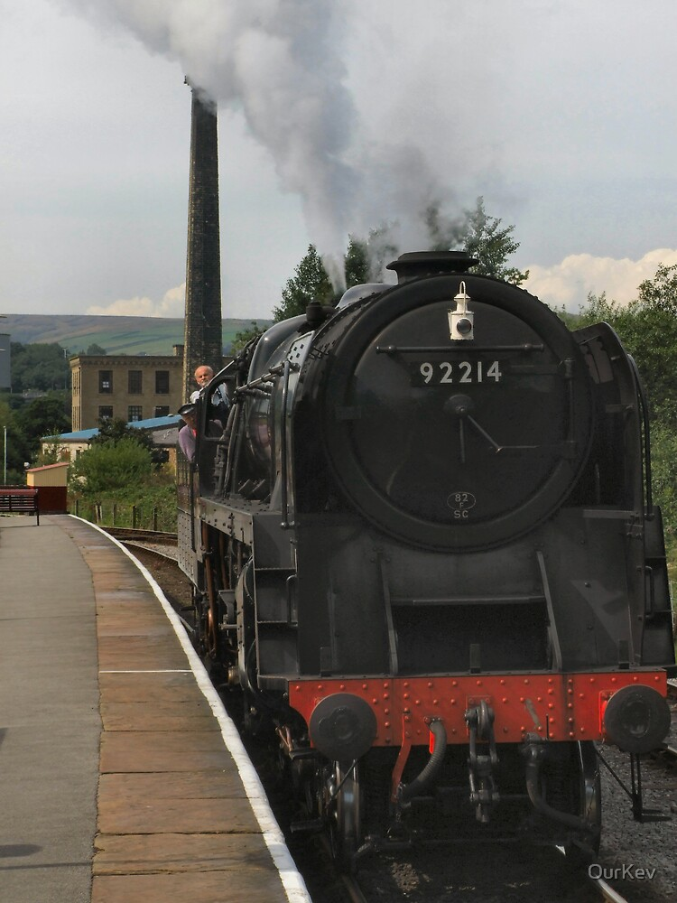 Steam loco pulling in by OurKev
