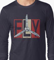 FLY Propeller Retro Designed For Flight Design Long Sleeve T-Shirt