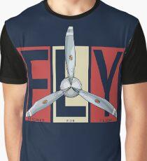 FLY Propeller Retro Designed For Flight Design Graphic T-Shirt