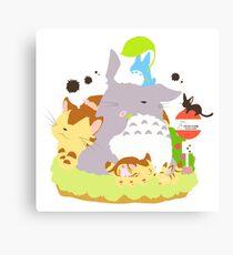 Ghibli Cute Characters Canvas Print