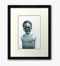 Girl with goggles Framed Print