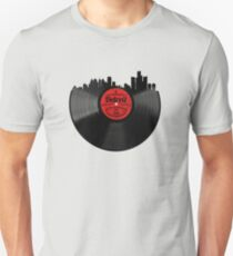 Detroit Michigan Vinyl Record Vintage Skyline Design Unisex T-Shirt