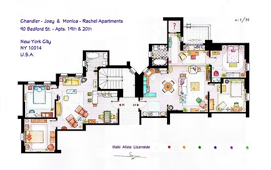 Floorplan of Friends Apartment (Old version) by Iñaki Aliste Lizarralde