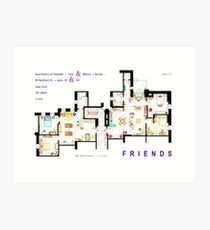 FRIENDS Apartments Floorplan (Corrected) Art Print