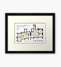 FRIENDS Apartments Floorplan (Corrected) Framed Print