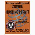 International ZOMBIE Hunting Permit V2 by thatstickerguy