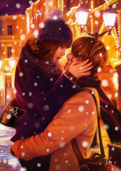 Christmas Couple Lisa Taehyung Posters By Ellen Drawings Redbubble