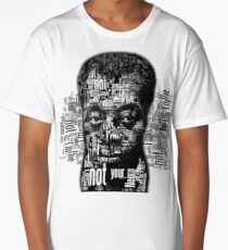 Not Your Negro, text words, James Baldwin Quote Long T-Shirt