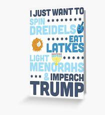 Funny Political Hanukkah Shirt : Impeach Trump Shirt for Chanukah Greeting Card