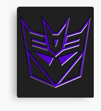 3D Transformers Logo - Decepticon Canvas Print