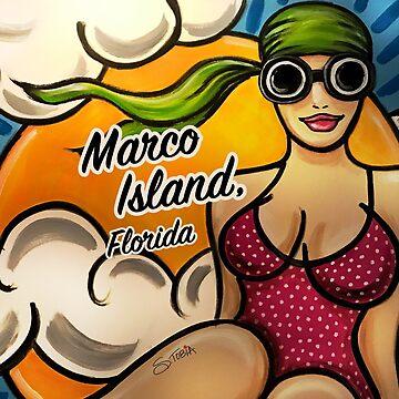 Beach Baby - Rosa Anzug Marco Island von Susantobiaart
