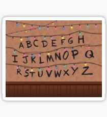 Stranger Things Alphabet Wall Sticker