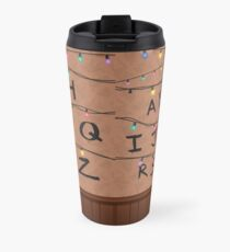Stranger Things Alphabet Wall Travel Mug