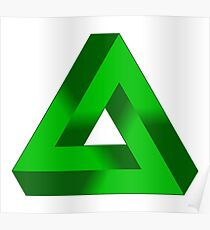 GREEN, Ecology, IMPOSSIBLE TRIANGLE. Penrose Poster
