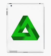 GREEN, Ecology, IMPOSSIBLE TRIANGLE. Penrose iPad Case/Skin