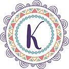 Monogramm-Buchstabe K | Personalisiert | Böhmisches Design von PraiseQuotes