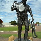 Stockman sculpture -The  Australian Stockman Hall Of Fame. by Kay Cunningham