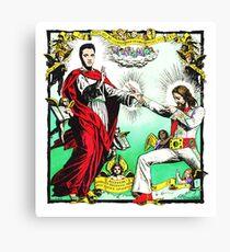 Jesus and Elvis Canvas Print
