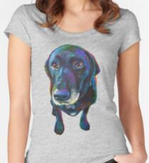 Buddy the Black Labrador Women's Fitted Scoop T-Shirt