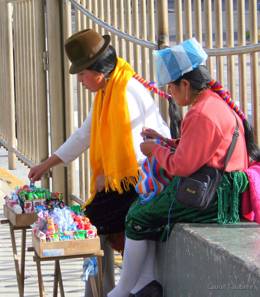 Street Vendors in Quito by Laurel Talabere