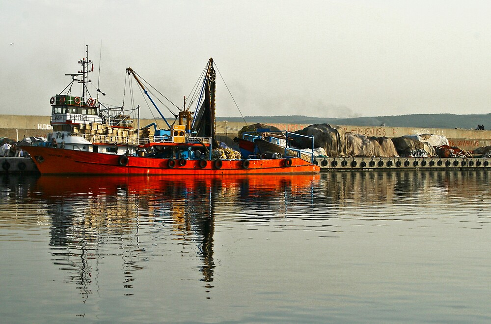 Red vessel by Filiz A