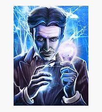 Nikola Tesla - Man of Lightning Photographic Print