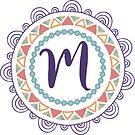 Monogramm-Buchstabe M | Personalisiert | Böhmisches Design von PraiseQuotes