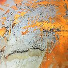 abstract industrial grunge grey and yellow rusted metal by lfang77