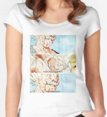 Vegeta and Trunks Farewell Women's Fitted Scoop T-Shirt