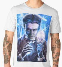 Nikola Tesla - Man of Lightning Men's Premium T-Shirt