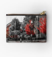 Red Trees Zipper Pouch