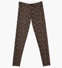 Brown Haka Cable Knit Leggings