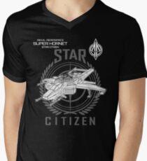 SUPER HORNET Star Citizen Men's V-Neck T-Shirt