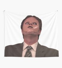 Dwight Schrute - Skin Mask Wall Tapestry