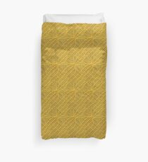 Yellow Lines Knit Duvet Cover