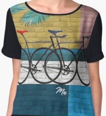 bicycle in composition Women's Chiffon Top