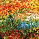 Lovely Flowers Along The Path by WhiteDove Studio kj gordon