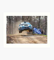 Flying Subaru Art Print