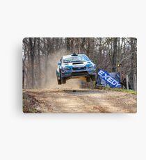 Flying Subaru Canvas Print