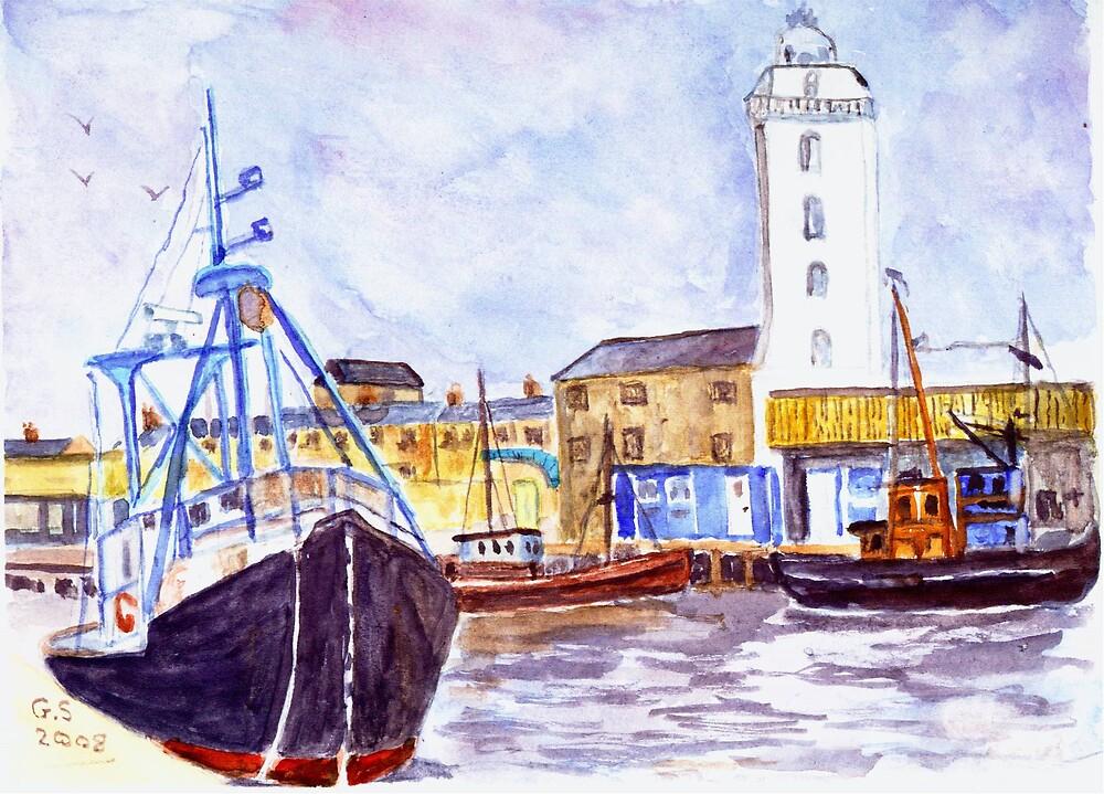 North Shields Fish Quay by GEORGE SANDERSON