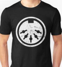 Distressed MIDI Plug | Synthesizer Design Unisex T-Shirt