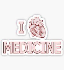 I Heart Medicine Sticker