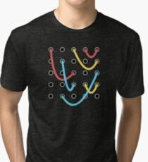 Analog Modular Synthesizer Tri-blend T-Shirt