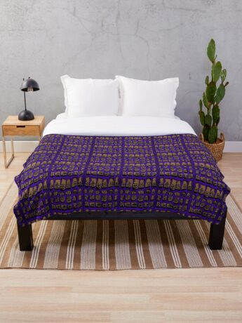 Ultra Violet COTY  Throw Blanket