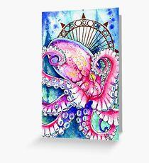 Watercolor Octopus Greeting Card