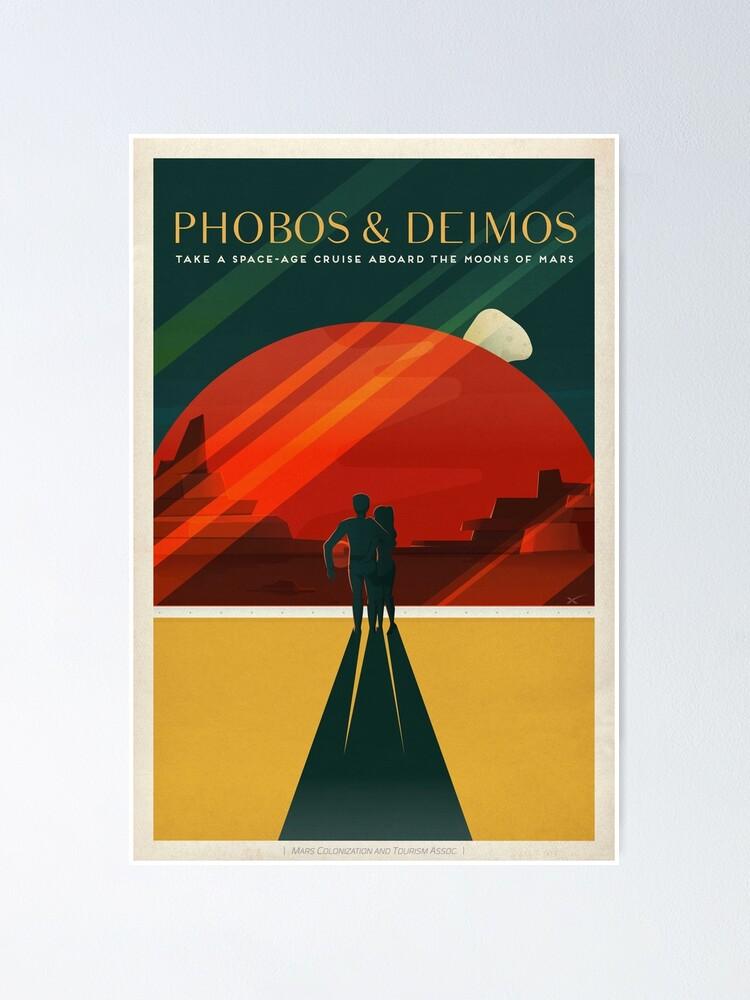 Alternative Ansicht von Mars-Tourismus-Plakat für Phobos und Deimos Poster