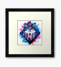 Wolf paint / water color Framed Print