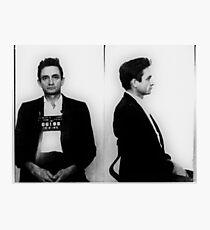 Lámina fotográfica Johnny Cash Mug Shot Horizontal