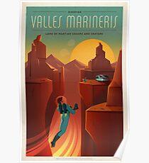 Mars-Tourismus-Plakat für Valles Marineris Poster